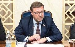 К. Косачев: Российская часть парламентского доклада осостоянии отношений сИталией может быть представлена виюне
