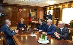 В. Матвиенко провела встречу сруководством Ростовской области