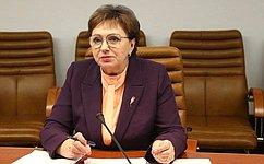 Совет Федерации активно ивсесторонне продвигает идею женского лидерства— Е.Бибикова
