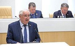 Сенаторы одобрили закон, направленный насовершенствование организации местного самоуправления