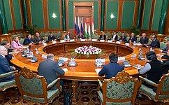 Председатель СФ провела встречу сглавой верхней палаты Парламента Таджикистана