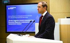 Перед сенаторами выступил Министр промышленности иторговли РФ Денис Мантуров