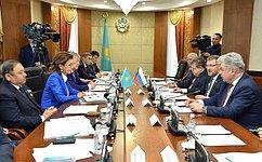 ВАстане состоялось совместное заседание профильных комитетов Совета Федерации иСената Парламента Республики Казахстан