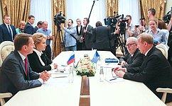 «Наполях» МПА СНГ состоялась встреча руководства Федерального Собрания РФ сПредседателем ПАСЕ