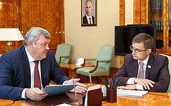 Д.Шатохин встретился сглавой Республики Коми С.Гапликовым
