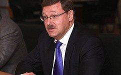 Парламентская дипломатия игуманитарное сотрудничество помогут России иБолгарии укрепить историческую связь— К. Косачев
