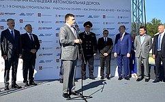Н. Журавлев принял участие вцеремонии запуска движения попятому участку ЦКАД