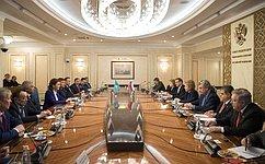 Межпарламентские связи России иКазахстана развиваются динамично– В.Матвиенко