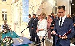 Л.Гумерова приняла участие вцеремонии посвящения встуденты первокурсников МГТУ имени Н.Э.Баумана