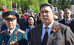 В.Полетаев поздравил ветеранов Великой Отечественной войны сДнем Победы