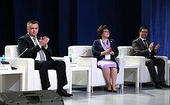Л.Талабаева приняла участие вцеремонии открытия Дальневосточного МедиаСаммита— 2017 воВладивостоке