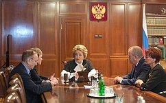 В. Матвиенко иМ.Ковтун обсудили перспективы социально-экономического развития Мурманской области
