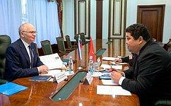 Ф.Мухаметшин: Отношения спарламентариями Республики Киргизия находятся навысоком уровне