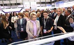 В.Матвиенко открыла вСанкт-Петербурге выставку проектов женщин-экспортеров «Сделано вРоссии: экспорт руками женщин»