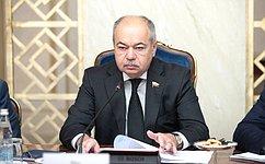 И. Умаханов: Впоиске адекватных ответов насовременные вызовы иугрозы еще больше возрастает роль парламентов