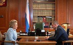 В.Матвиенко: УВолгоградской области есть все условия для того, чтобы быть вчисле лидеров