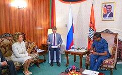 Состоялись переговоры Председателя Совета Федерации В.Матвиенко иПрезидента Республики Замбия Э.Лунгу