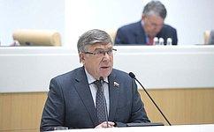 В. Рязанский: Комитет СФ посоциальной политике подготовил 23 законодательные инициативы в2017году