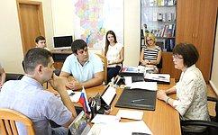 Е.Попова встретилась сактивом Молодежного парламента Волгоградской области