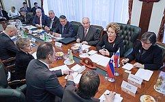 Председатель СФ В. Матвиенко встретилась сПредседателем Государственного собрания Словении Я. Вебером