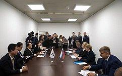 Председатель Совета Федерации В.Матвиенко провела встречу сглавой Национального собрания Республики Корея Мун Хи Саном