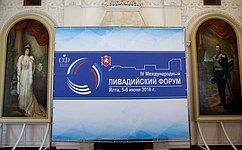 Делегация СФ воглаве сПредседателем палаты В.Матвиенко приняла участие вработе IV Международного Ливадийского форума