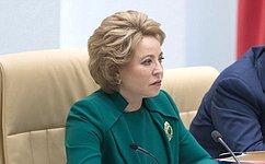 В.Матвиенко: Программа поддержки семей сдетьми предполагает самые конкретные имасштабные меры