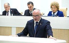 А. Клишас представил отчет оработе полномочного представителя СФ вГенпрокуратуре, Следственном комитете иКонституционном Суде