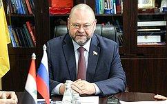 О. Мельниченко провел встречу сделегацией Сирийской Арабской Республики