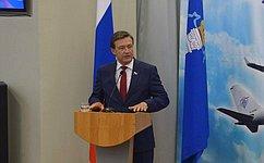С.Рябухин принял участие вторжественном собрании трудового коллектива Ульяновского авиационного завода