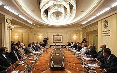 Председатель СФ В.Матвиенко провела встречу сПредседателем Милли Меджлиса Азербайджана С.Гафаровой