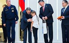 ВСовете Федерации вручили награды детям, которые совершили героические поступки испасли жизни людей