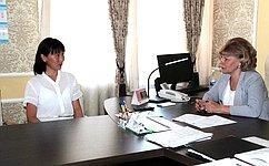 Т.Гигель провела прием граждан поличным вопросам вРеспублике Алтай