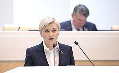 Л.Бокова выступила синформацией оработе полномочного представителя СФ вОбщественной палате Российской Федерации