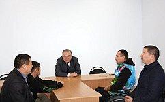 Ю.Бирюков посетил срабочим визитом Республику Калмыкия