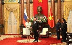 В. Матвиенко: Россия настроена наукрепление взаимодействия сВьетнамом повсему спектру направлений
