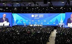 В.Матвиенко: Петербургский экономический форум– площадка, формирующая атмосферу доверия
