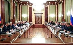 Состоялась встреча Председателя Правительства Российской Федерации счленами Совета палаты Совета Федерации