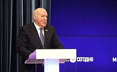 Д.Мезенцев: Совет Федерации ставит своей задачей последовательную иуспешную работу посовершенствованию национального законодательства втопливно-энергетической сфере