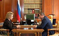 Дальнейшее развитие Волгоградской области вомногом будет зависеть отпритока инвестиций— В.Матвиенко