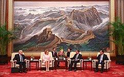 Председатель СФ встретилась сПредседателем Всекитайского комитета Народного политического консультативного совета КНР