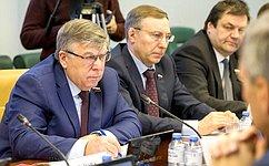 Назаседании Комитета СФ посоциальной политике выступил Министр труда исоциальной защиты Российской Федерации