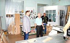 С. Белоусов посетил Алтайский архитектурно-строительный колледж