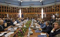 Сенаторы обсудили сруководством Торгово-промышленной палаты РФ вопросы законотворчества