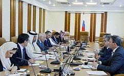В. Джабаров встретился сделегацией Палаты депутатов Парламента Бахрейна