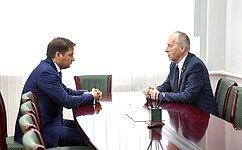 Е. Алексеев обсудил сврио губернатора НАО А.Цыбульским актуальные вопросы развития региона