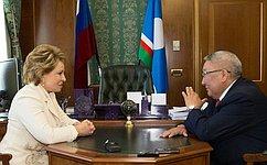 Председатель СФ иглава Якутии обменялись мнениями оперспективах социально-экономического развития Республики