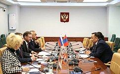 К. Косачев: Совместная работа российских имонгольских парламентариев должна выйти нановый качественный уровень