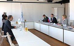 Председатель СФ В.Матвиенко встретилась сПредседателем Межпарламентского союза Д.Пашеку