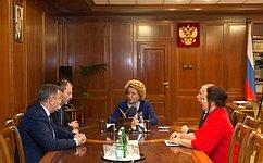В.Матвиенко иР.Копин обсудили перспективы социально-экономического развития Чукотки